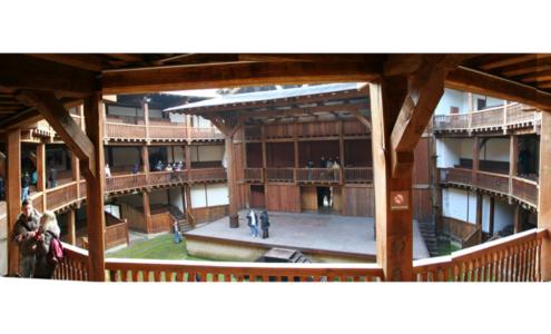 vista palco Globe Roma dalle balconate