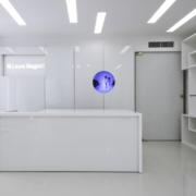 bancone bianco laura Biagiotti store