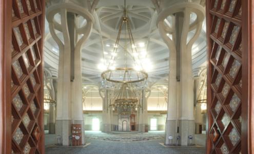 interno Moschea di Roma