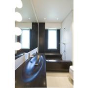 bagno di design in solid surface nero