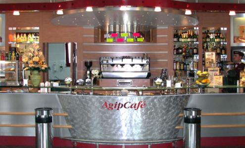 banco e retrobanco Agip Café