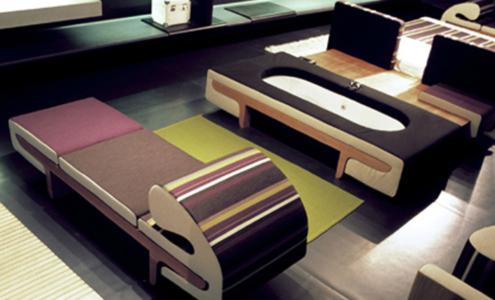 letto e vasca da bagno di design
