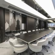 sala riunioni uffici Gazprom San Pietroburgo