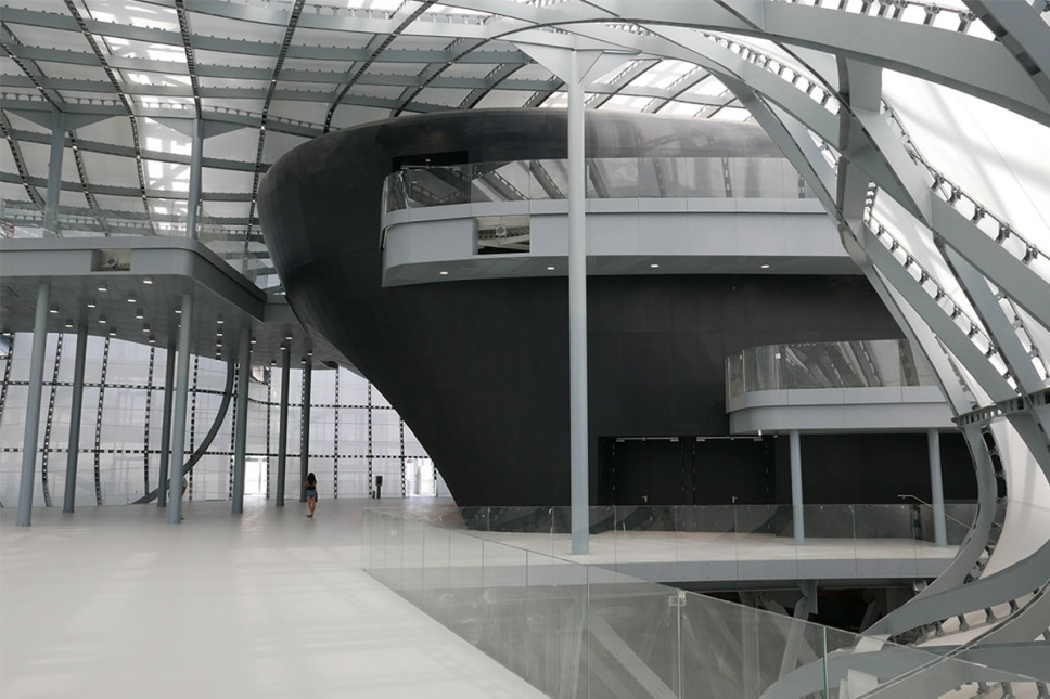 esterno auditorium Nuvola di Fuksas