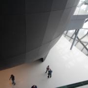 esterno auditorium Nuvola pannelli legno