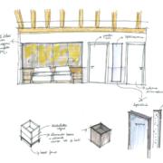 sketch arredi su misura aparthotel