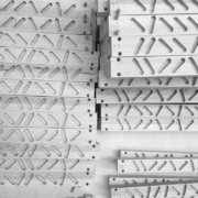 CNC-worked wood slats