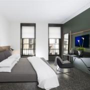 modern design hotel room