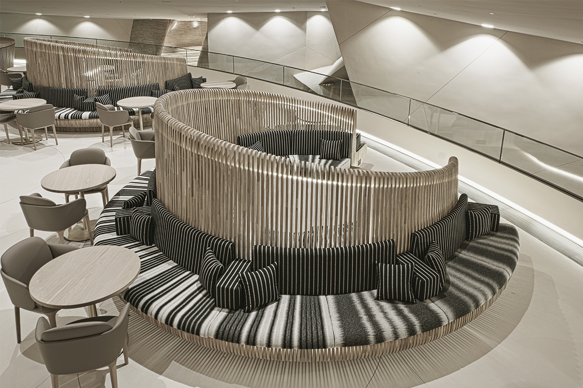 Medallion seating designed by KTA and made by Devoto Design