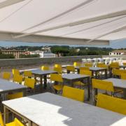 Terrazza panoramica Palazzo Rhinoceros con arredi Jean Nouvel Design