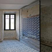 Palazzo Rhinoceros shutter with custom-made print and bespoke wooden window