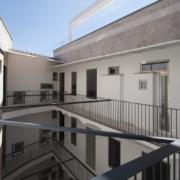 Corte interna Palazzo Rhinoceros ultimo piano Devoto Design