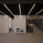 Palazzo Rhinoceros expo area and staircase Devoto Design