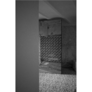 Palazzo Rhinoceros bespoke shutter with print black and white