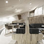 Café 875 National Museum of Qatar furniture by Devoto Design