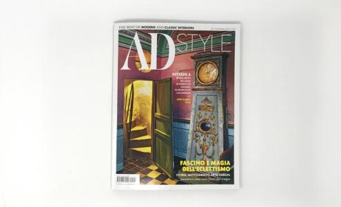 Copertina AD style con arredi di lusso realizzati da Devoto Design
