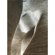 Detail of the wooden canyon designed by KTA and made by Devoto Design