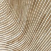 National museum of qatar gift shop: dettaglio di rivestimento in doppia curvatura in rovere fingerjoint