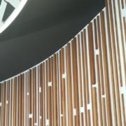 bespoke wood sticks cladding detail