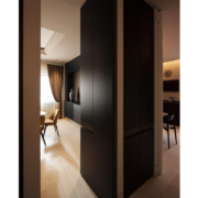 floor-to-ceiling bespoke cabinets