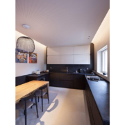 bespoke black and white kitchen