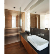 private sauna and bathroom