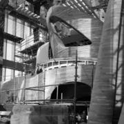 Installazione pareti di legno in doppia curvatura by Devoto