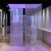Dettaglio corpo illuminante su misura allestito presso la facoltà di architettura La Sapienza