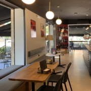 Detail of interiors of Opera bakery shop, designed and delivered by Devoto Design