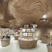 arredi fissi e loose doppia curvatura national museum of qatar gift shop