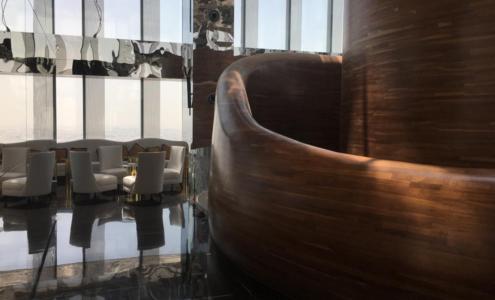 Curves of the Vertigo restaurant inside the Banyan Tree Doha hotel