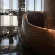 Curve degli arredi del Vertigo restaurant del Banyan Tree hotel di Doha