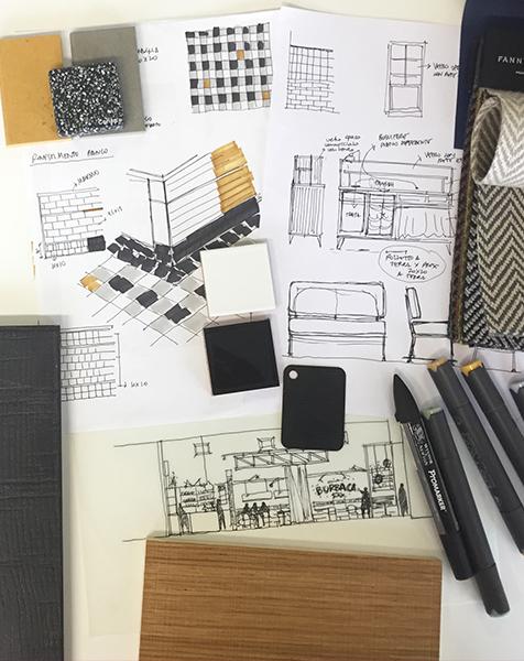Concept design development: moodboard and palette