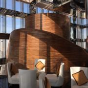 Banjan Tree Doha Realizzazione pareti in Doppia Curvatura Vertigo Restaurant Devoto Design
